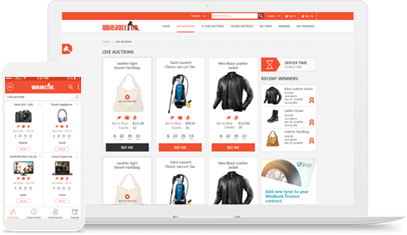 Design Themes Best Online Auction Software Jallicart